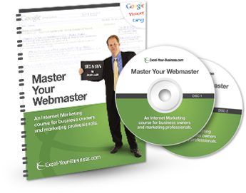 seo dvd program for business owners and marketing professionals  master your webmaster an internet marketing course for business owners and marketing professionals